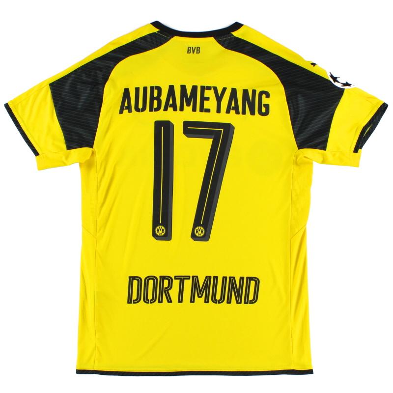 2016-17 Borussia Dortmund CL Home Shirt Aubameyang #17 M