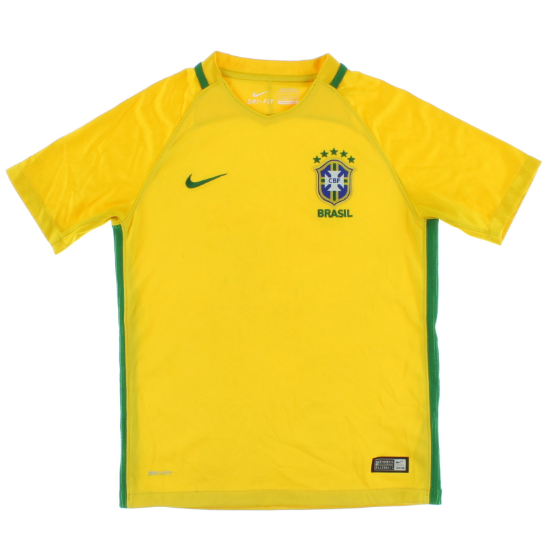 2016-17 Brazil Home Shirt M.Boys - 724685-703