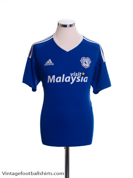 2016-17 Cardiff City Home Shirt XXL - AP8236