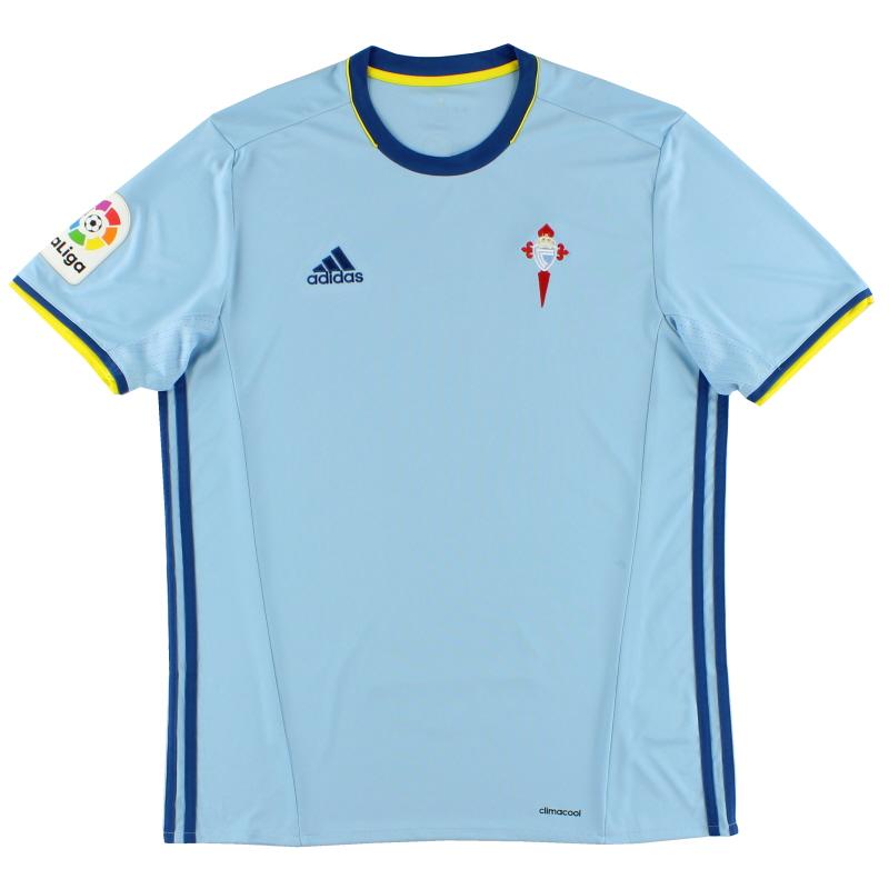 2016-17 Celta Vigo Home Shirt *Mint* L - AZ0132