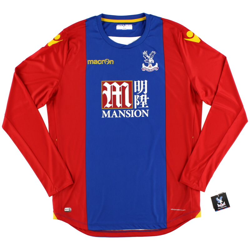 2016-17 Crystal Palace Macron Home Shirt *BNIB* L/S