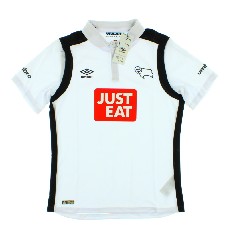 2016-17 Derby County Home Shirt *BNIB* - 75400U