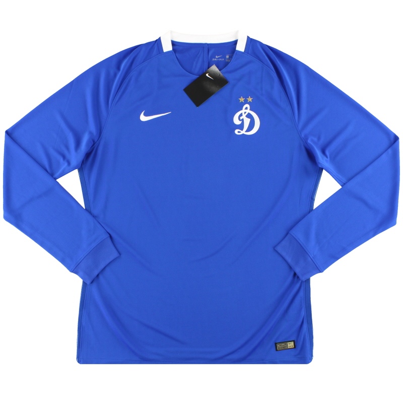 2016-17 Dynamo Moscow Nike Player Issue Home Shirt *w/tags* L/S XL - 808333