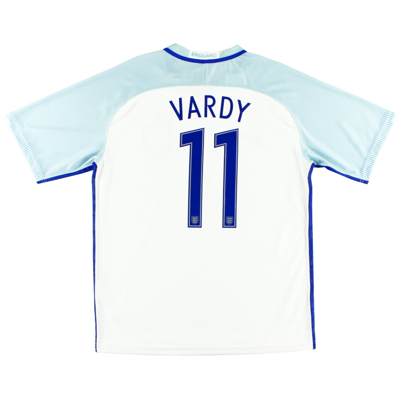 2016-17 England 'Authentic' Home Shirt Vardy #11 L
