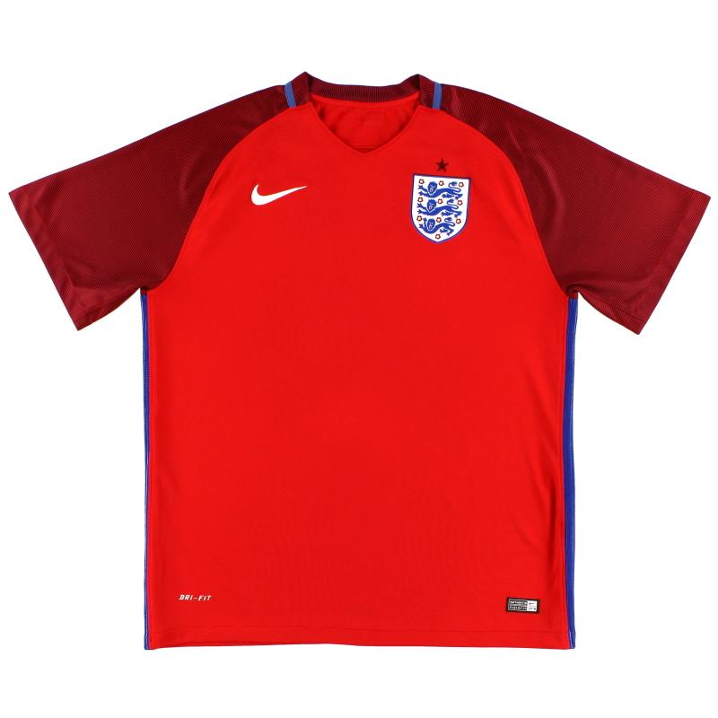 2016-17 England Nike Away Shirt XXL - 724610-100