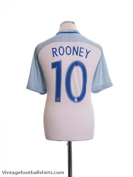 2016-17 England Home Shirt Rooney #10 *Mint* XL