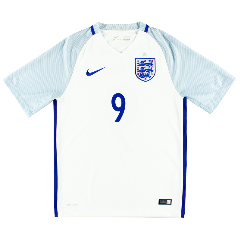 2016-17 England Nike Home Shirt  #9 L - 724610-100