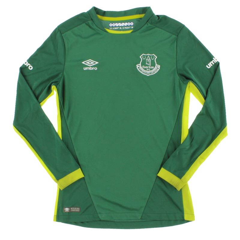 2016-17 Everton Goalkeeper Shirt M.Boys
