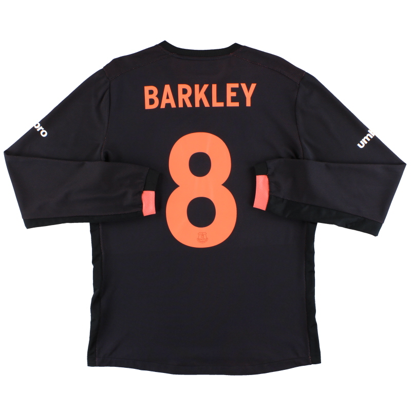 2016-17 Everton Home Shirt Barkley #8 L/S *Mint* M