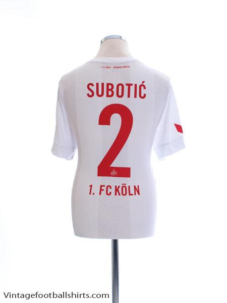 2016-17 FC Koln Home Shirt Subotic #2 *Mint* L