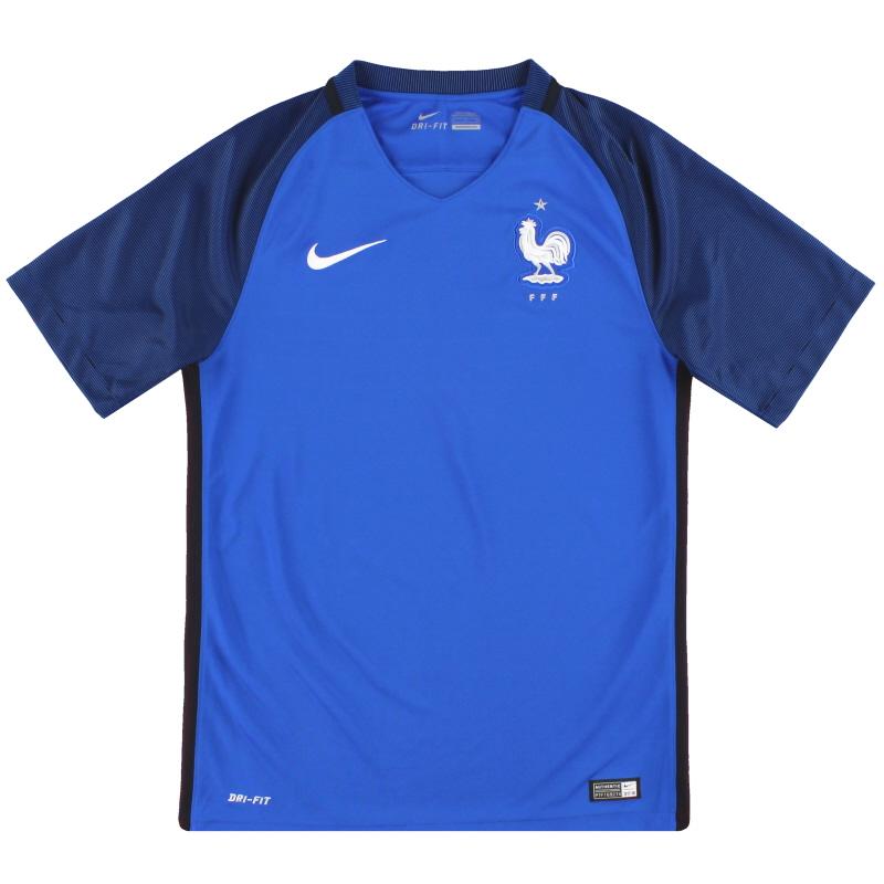 2016-17 France Nike Home Shirt *Mint* S