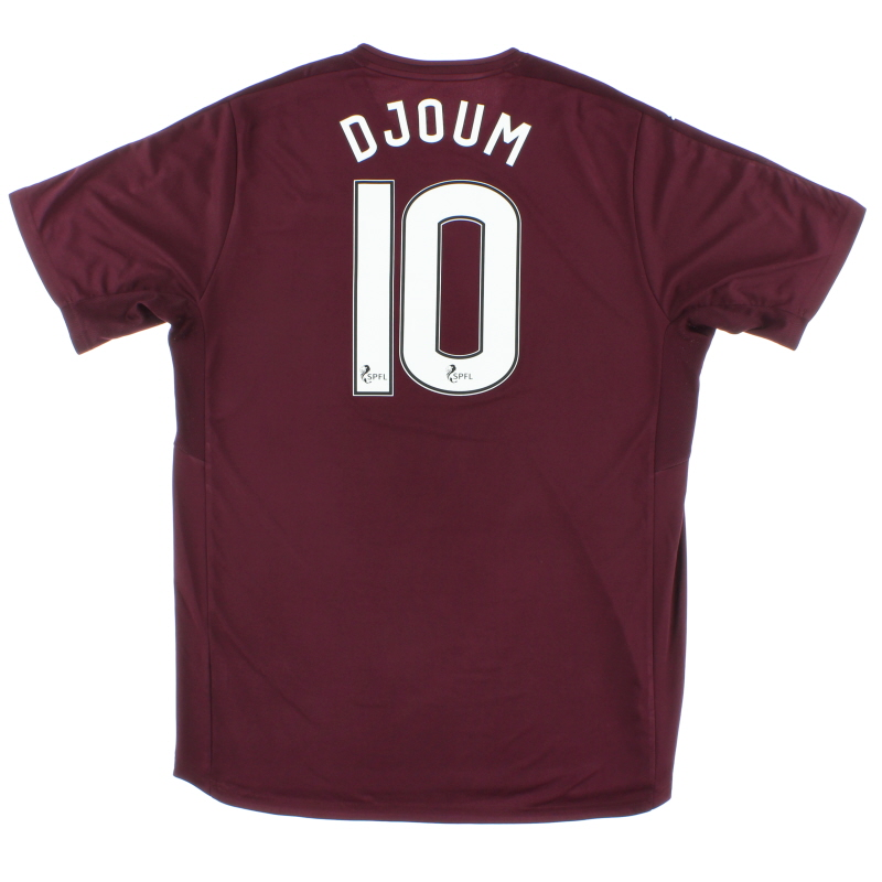 2016-17 Hearts Home Shirt Djoum #10 XL