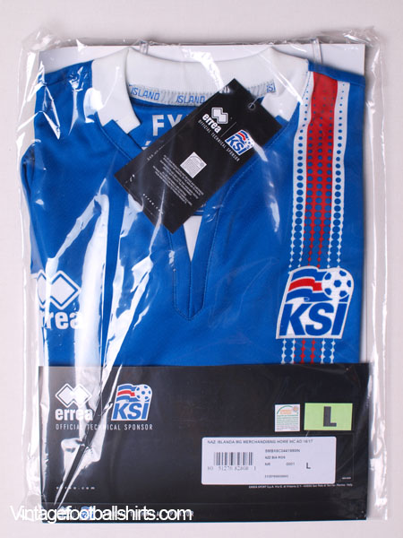 c508ee536 2016-17 Iceland Home Shirt  BNIB  for sale