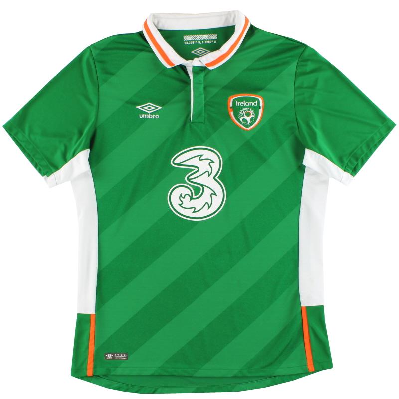 2016-17 Ireland Umbro Home Shirt L