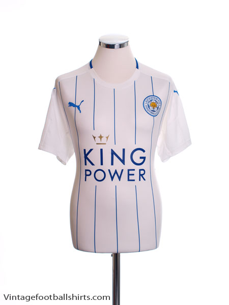 2016-17 Leicester Third Shirt *Mint* XL - K1814021R