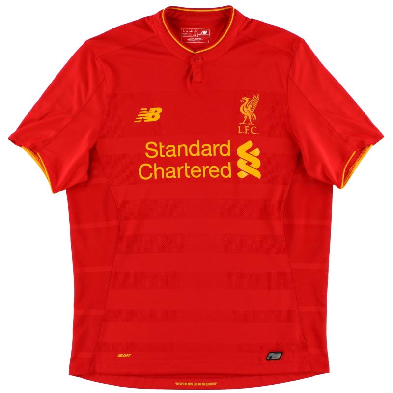 2016-17 Liverpool New Balance Home Shirt S - MT630001