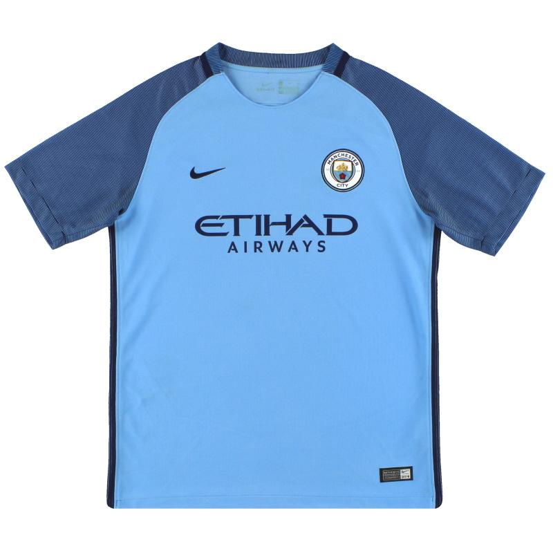 2016-17 Manchester City Nike Home Shirt XL.Boys - 777059-489