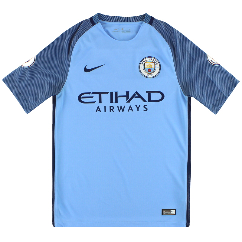 2016-17 Manchester City Nike Home Shirt S - 776907-489