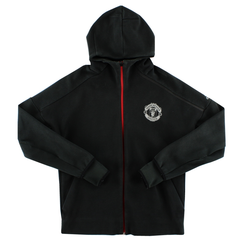 2016-17 Manchester United adidas ZNE Hooded Top L - AP1795