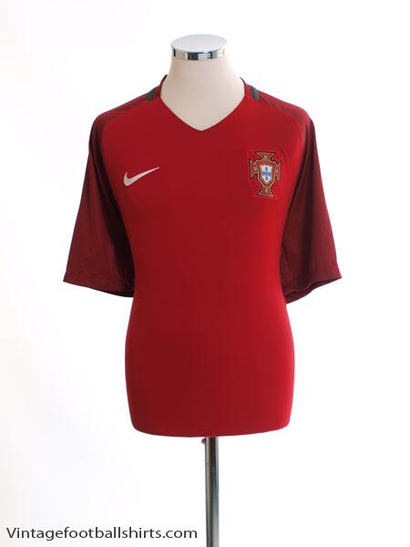 2016-17 Portugal Home Shirt *Mint* XL - 724620-687