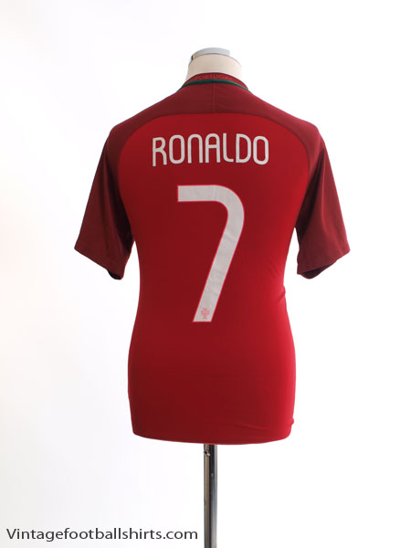 2016-17 Portugal Home Shirt Ronaldo #7 *Mint* S - 724620-687