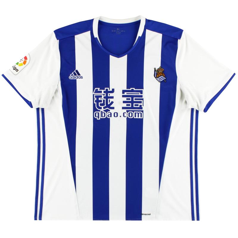 2016-17 Real Sociedad adidas Home Shirt XXL - AZ0137