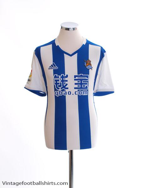 2016-17 Real Sociedad Home Shirt *Mint* - AZ0137