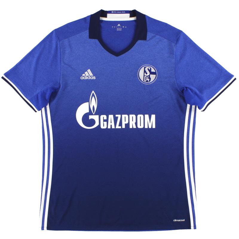 2016-17 Schalke adidas Home Shirt *Mint* L - AI7227