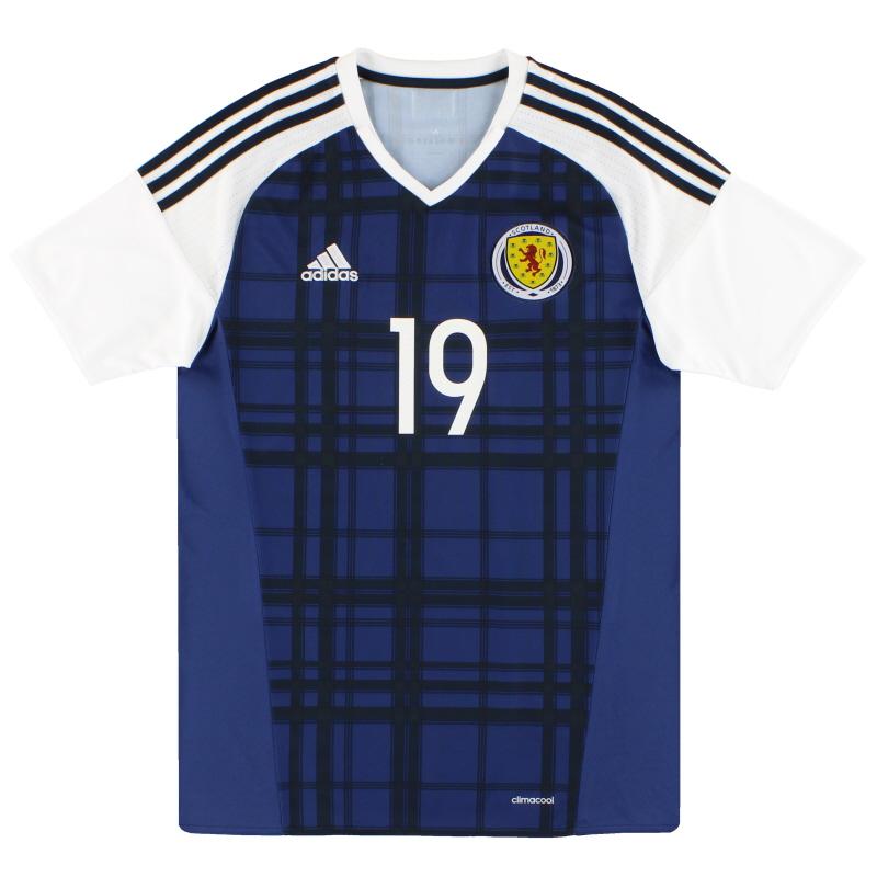2016-17 Scotland adidas Player Issue Home Shirt #19 M - AI6602