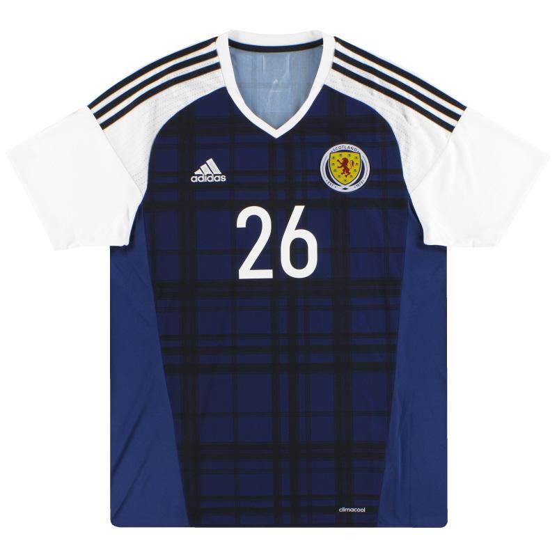 2016-17 Scotland adidas Player Issue Home Shirt #26 - AI6602