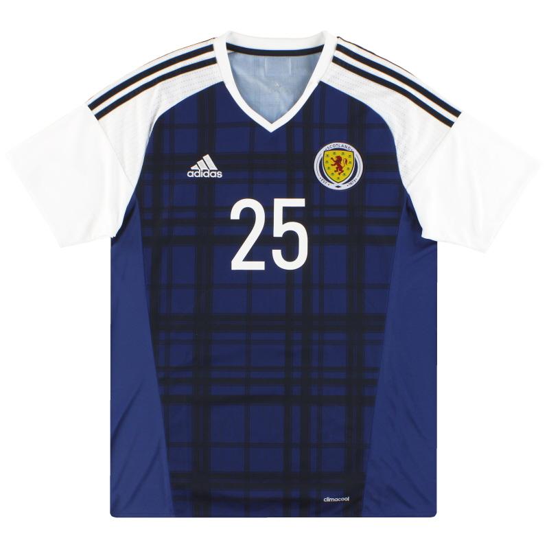 2016-17 Scotland adidas Player Issue Home Shirt #25 - AI6602