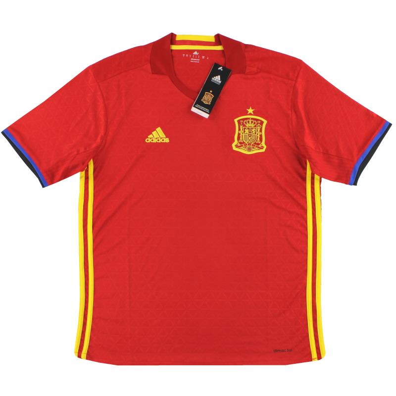 2016-17 Spain Home Shirt *w/tags* S - AI4411