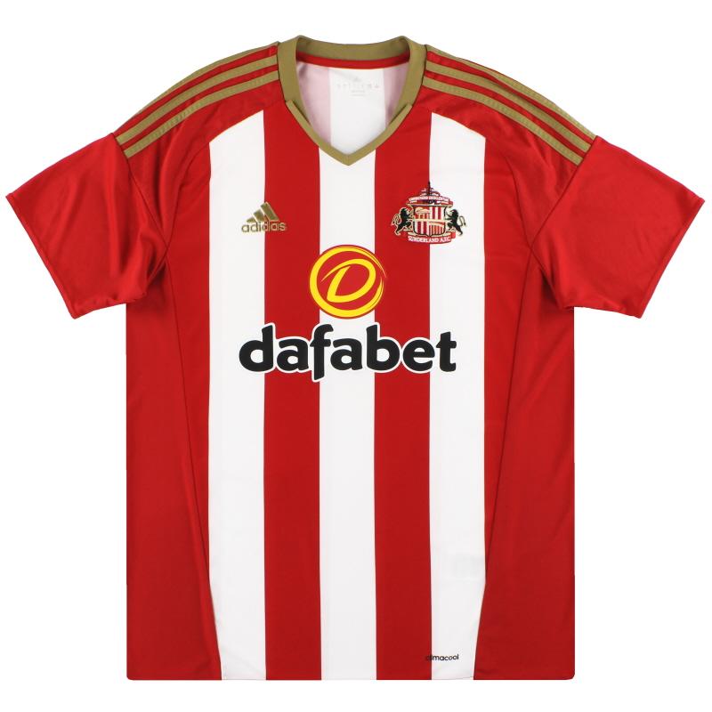 2016-17 Sunderland adidas Home Shirt *Mint* L - AP8642