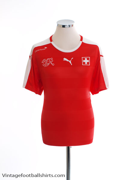 2016-17 Switzerland Home Shirt *Mint* L