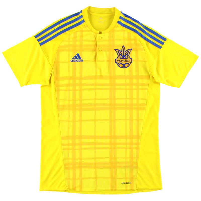 2016-17 Ukraine adidas Home Shirt M - AC5580