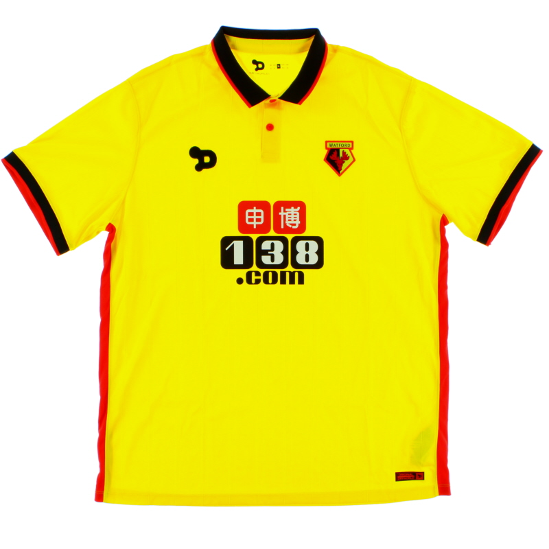 2016-17 Watford Dryworld Home Shirt *Mint* XL