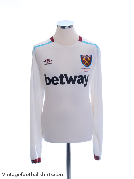 2016-17 West Ham Away Shirt L/S XL