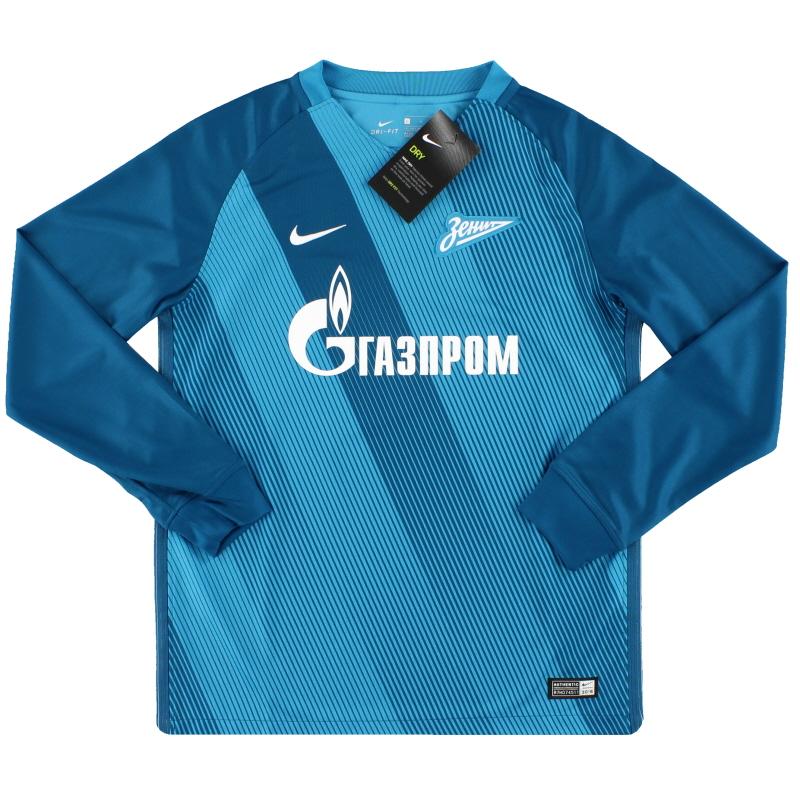 2016-17 Zenit St. Petersburg Nike Home Shirt L/S *w/tags* L.Boys - 808598-499