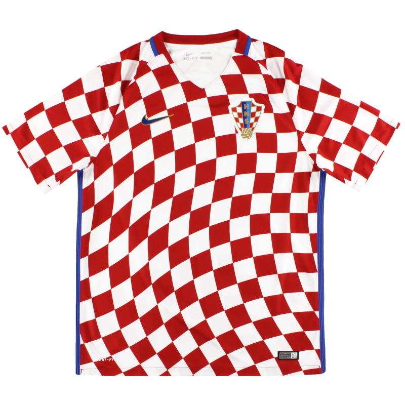 2016-18 Croatia Nike Home Shirt *As New* XXL - 724602