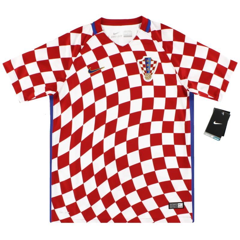 2016-18 Croatia Nike Home Shirt *w/tags* L.Boys - 724602