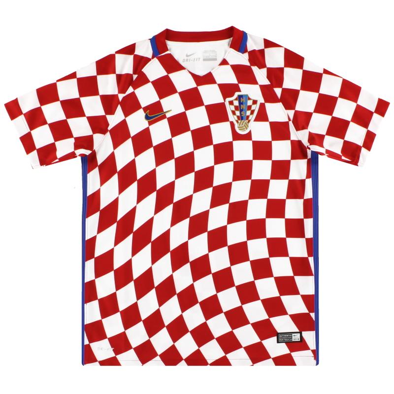 2016-18 Croatia Nike Home Shirt *As New* M.Boys - 724602