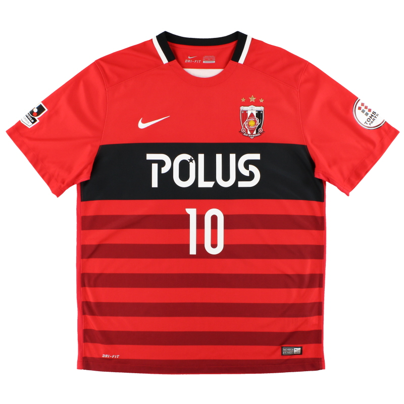 2016 Urawa Red Diamonds Nike Home Shirt Kashiwagi #10 *Mint* XXL - 743919-611