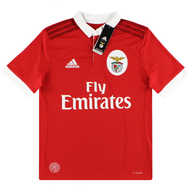 2017-18 Benfica adidas Home Shirt *BNIB* L.Boys - B31005