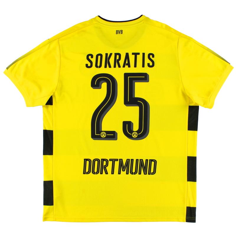 2017-18 Borussia Dortmund Home Shirt Sokratis #25 XL - 751670