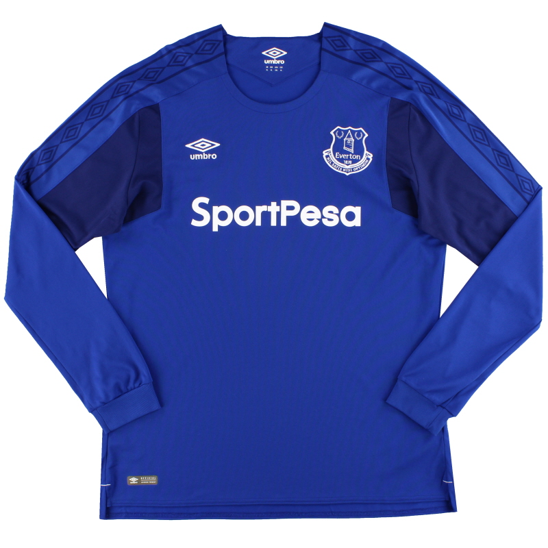 2017-18 Everton Umbro Home Shirt L/S *As New* XL