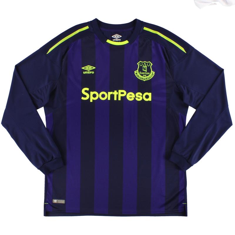 2017-18 Everton Umbro Third Shirt L/S *As New* XL