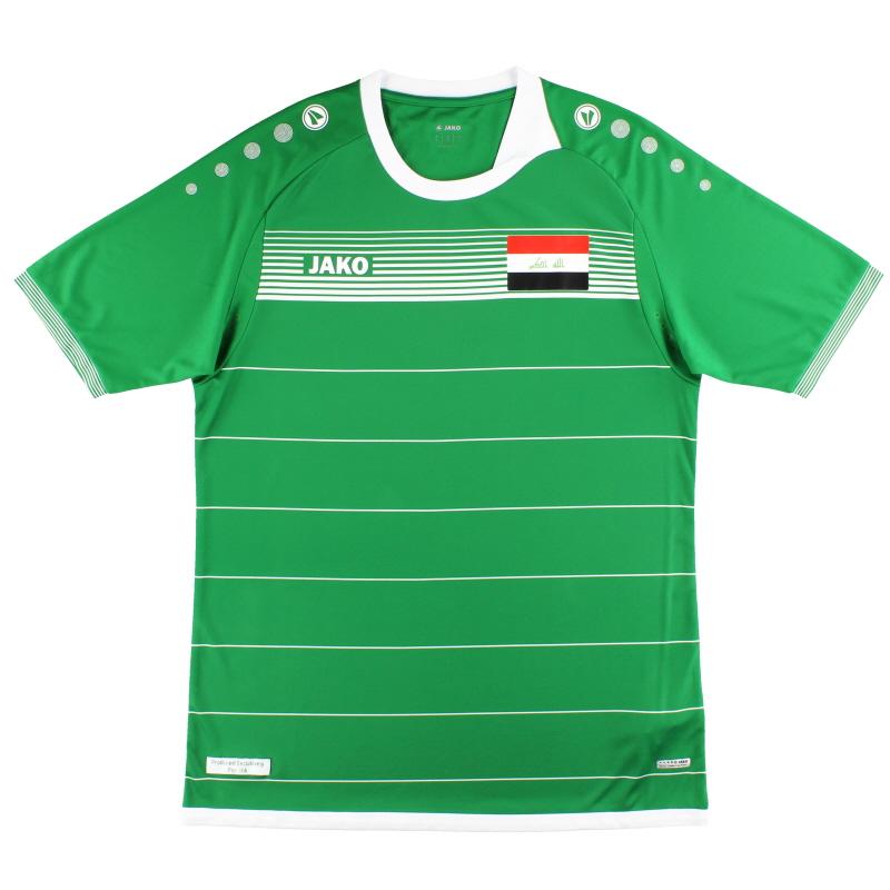 2017-18 Iraq Jako Home Shirt *As New* - IK4217
