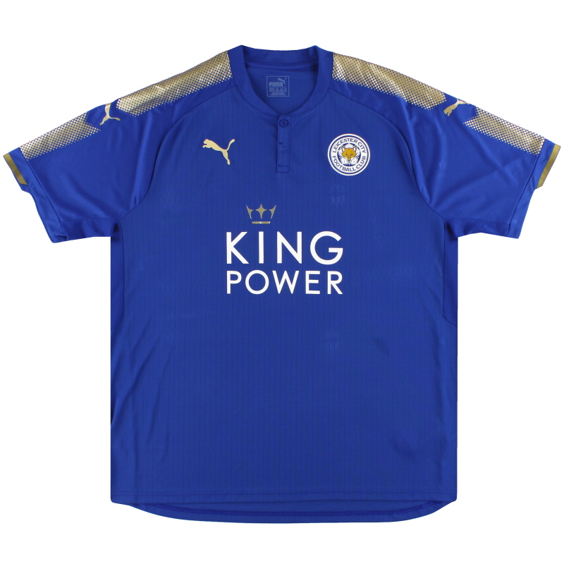 2017-18 Leicester City Puma Home Shirt XXL