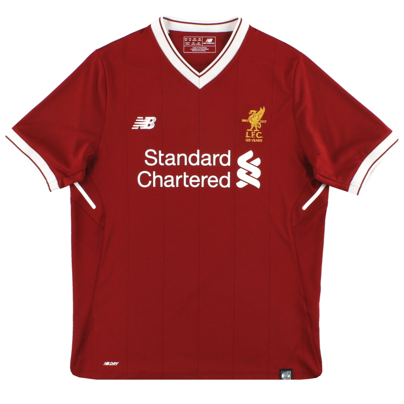 2017-18 Liverpool '125 Years' Home Shirt *Mint* Y - JT730005