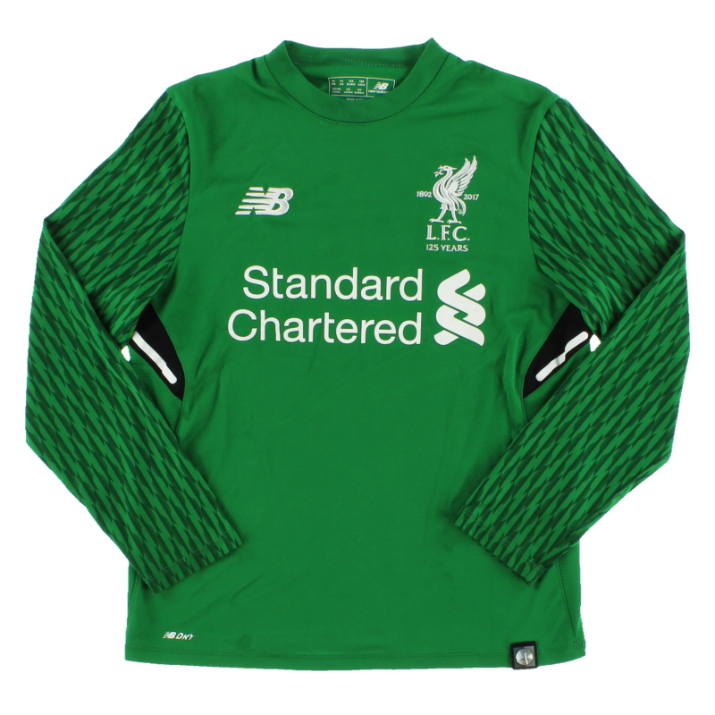 2017-18 Liverpool '125 Years' Goalkeeper Shirt S.Boys - JT739000
